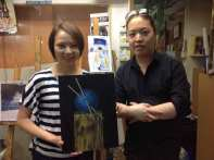 Michael Andrew Law and his student Wendy