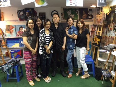 Michael Andrew Law and his students