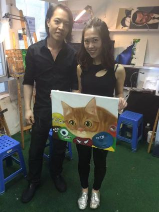 Michael Andrew Law and Cat