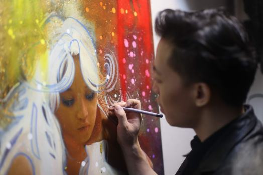 MICHAEL ANDREW LAW ARTIST PAINTING